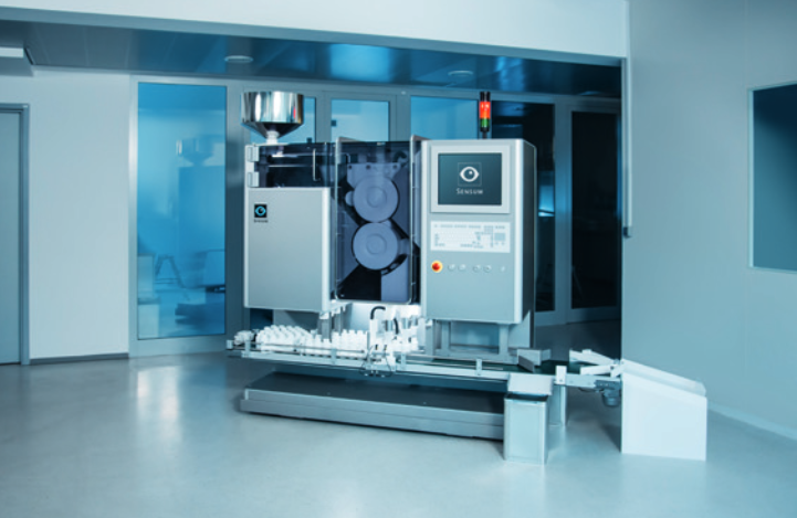 Spine Fibo, integrates automatic visual inspection, counting, and bottle filling of tablets, capsules, and softgels